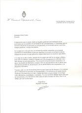 Carta del Diputado Jorge Rivas por la Presentacion del Libro Telecapacitados