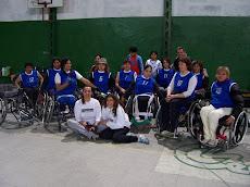 Club CEDIMA en La Matanza, con las Integrantes del Equipo Femenino de Básquet. Año 2007