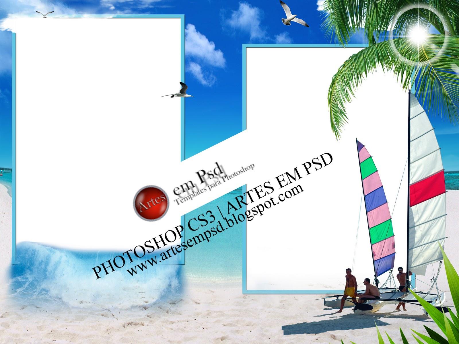 Molduras Praia Em PNG