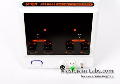 Панель управления лабораторного блока питания ATTEN APS 3003S