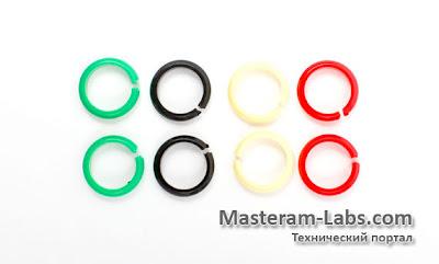 цветные, идентификационные кольца