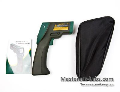 Комплектация инфракрасного пирометра MASTECH MS6530