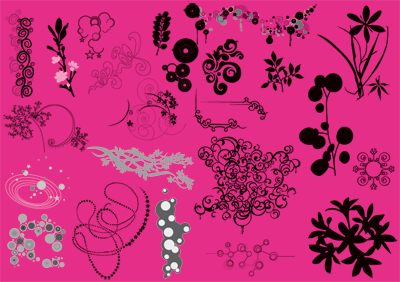 beautiful floral graphic