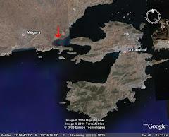 η θέση του υδροβιότοπου στο χάρτη
