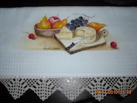pano pintado à mão para alegrar a sua cozinha