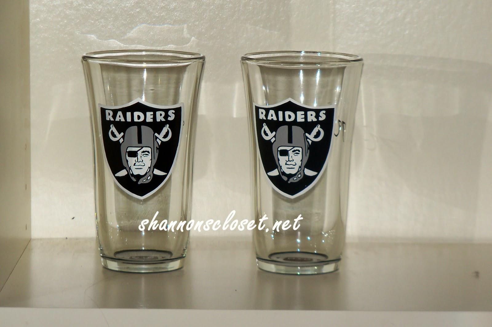 Oakland Raiders Drinking Glasses
