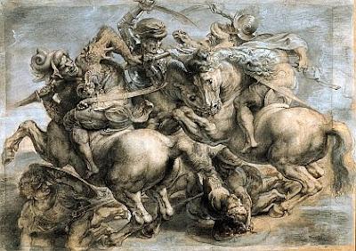 """Porque hoje é """"""""Segunda feira"""""""" Leonardo+da+Vinci_A+Batalha+de+Anghiari"""