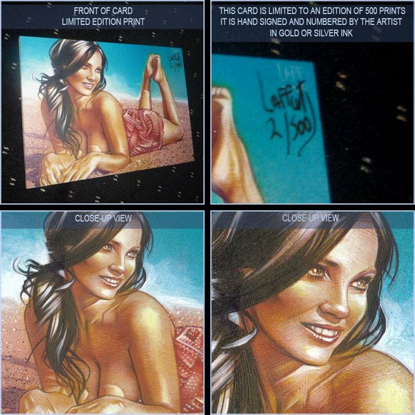 Denise Milani, Limited Edition Signed Print by Jeff Lafferty