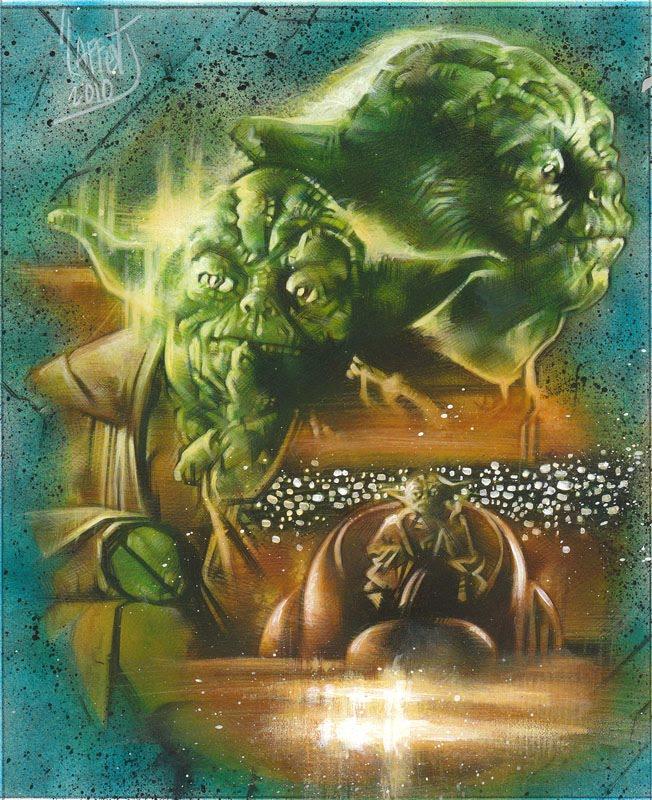 Yoda, Original Art by Jeff Lafferty