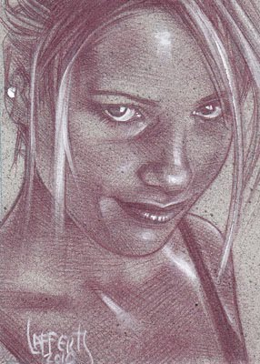 sarah michelle gellar(Pencil study) ACEO Sketch Card by Jeff Lafferty