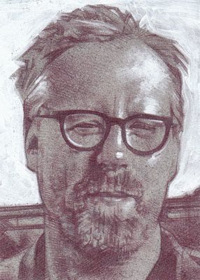 Adam Savage of Mythbusters(Pencil study) ACEO Sketch Card by Jeff Lafferty