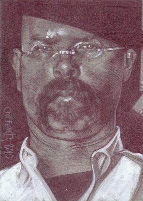 Jamie Hyneman of Mythbusters(Pencil study) ACEO Sketch Card by Jeff Lafferty