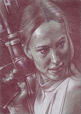 Padme (Pencil study) ACEO Sketch Card by Jeff Lafferty