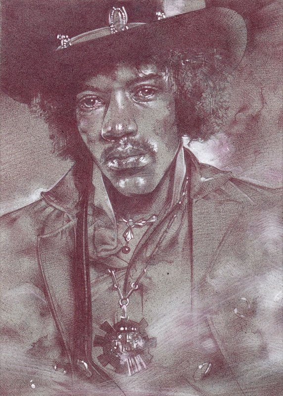Jimi Hendrix (Pencil study) by Jeff Lafferty