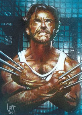 Hugh Jackman as Wolverine ACEO Sketch Card by Jeff Lafferty