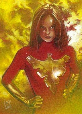 Jean Grey as Phoenix ACEO Sketch Card by Jeff Lafferty