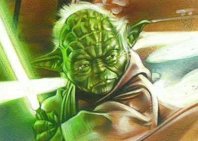 Yoda 2 ACEO Sketch Card by Jeff Lafferty