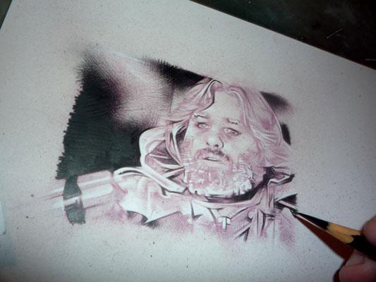 Kurt Russell as MacReady - Original Art by Jeff Lafferty