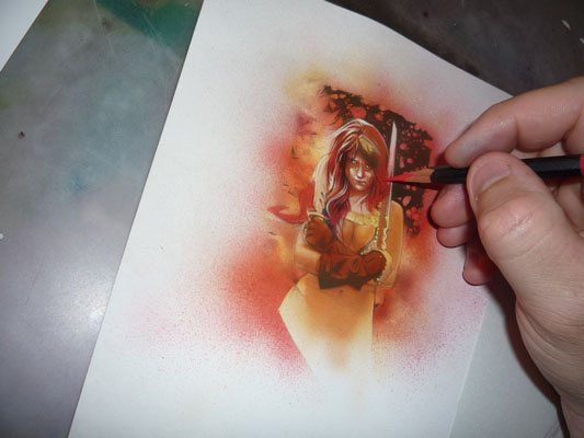 Red Sonja, original art by Jeff Lafferty