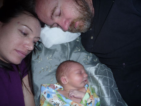 Mom, Dad and Tristan Lafferty