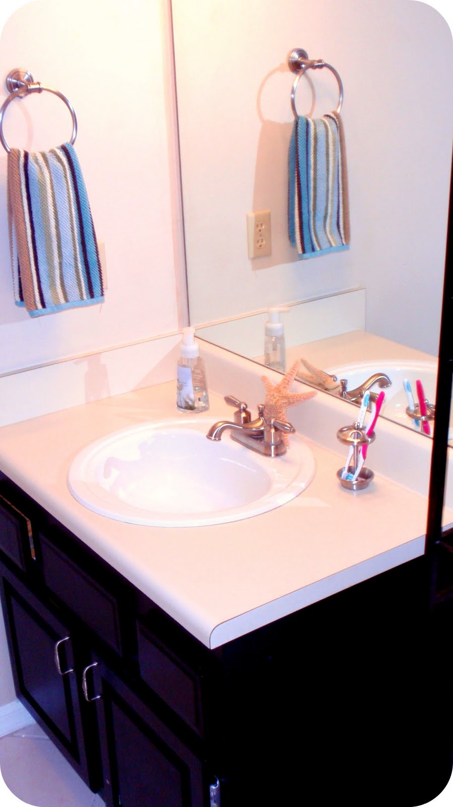 How to frame a bathroom mirror how to nest for less - The Inspired Nest Moen Mirrorscape Review Amp Giveaway