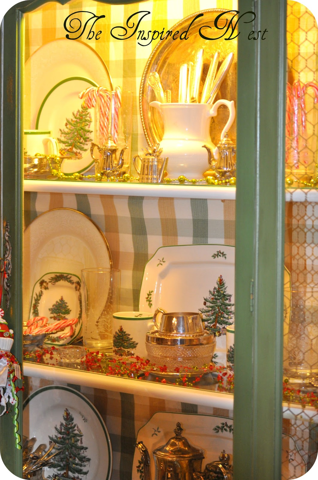 The Inspired Nest: Christmas China Cabinet