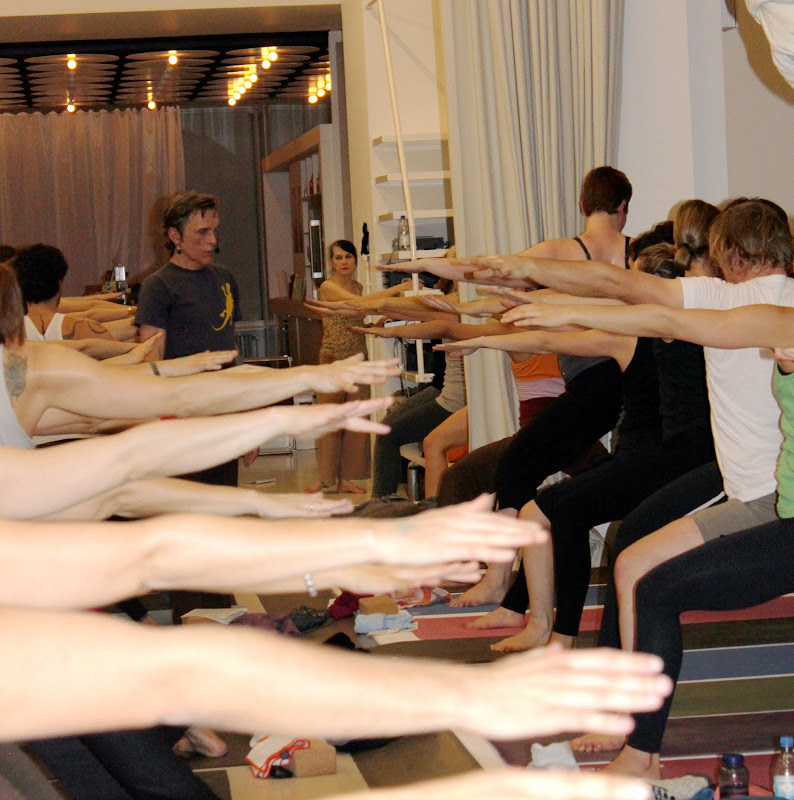 Virabhadrasana Yogaworkshop mit Sharon Gannon und David Life in Berlin