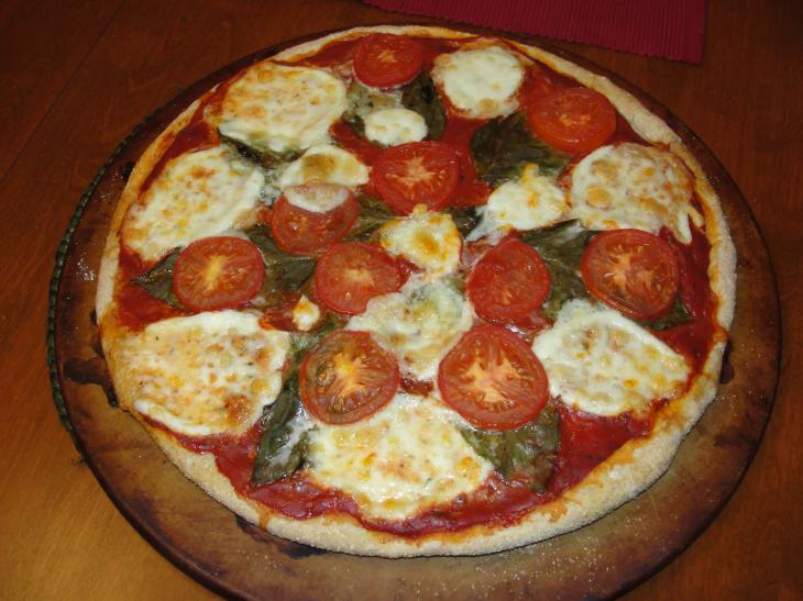 The Cookbook Blogger: Whole Wheat Pizza Dough (Bufalina Pizza), Tomato ...