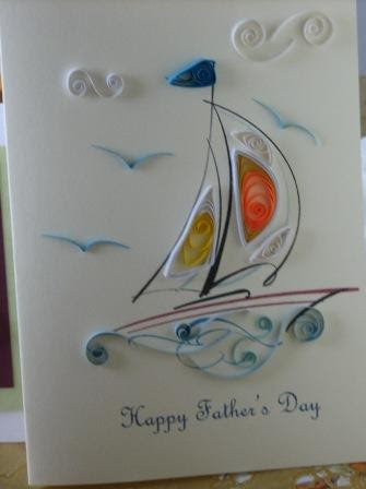 Quilling Art And Expression Fathers Day Sailboat Card