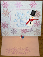 quilling quilled snowman card pattern