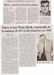 Vidas paralelas: Pelopintxo de ETA y Heinz del Partido Nazi. Dos asesinos fallecidos en 2007