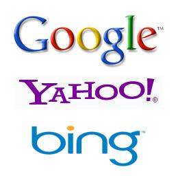 mesin pencari google , yahoo, bing