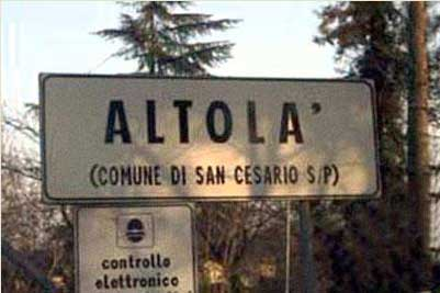 Paesi e città con nomi assurdi Altola