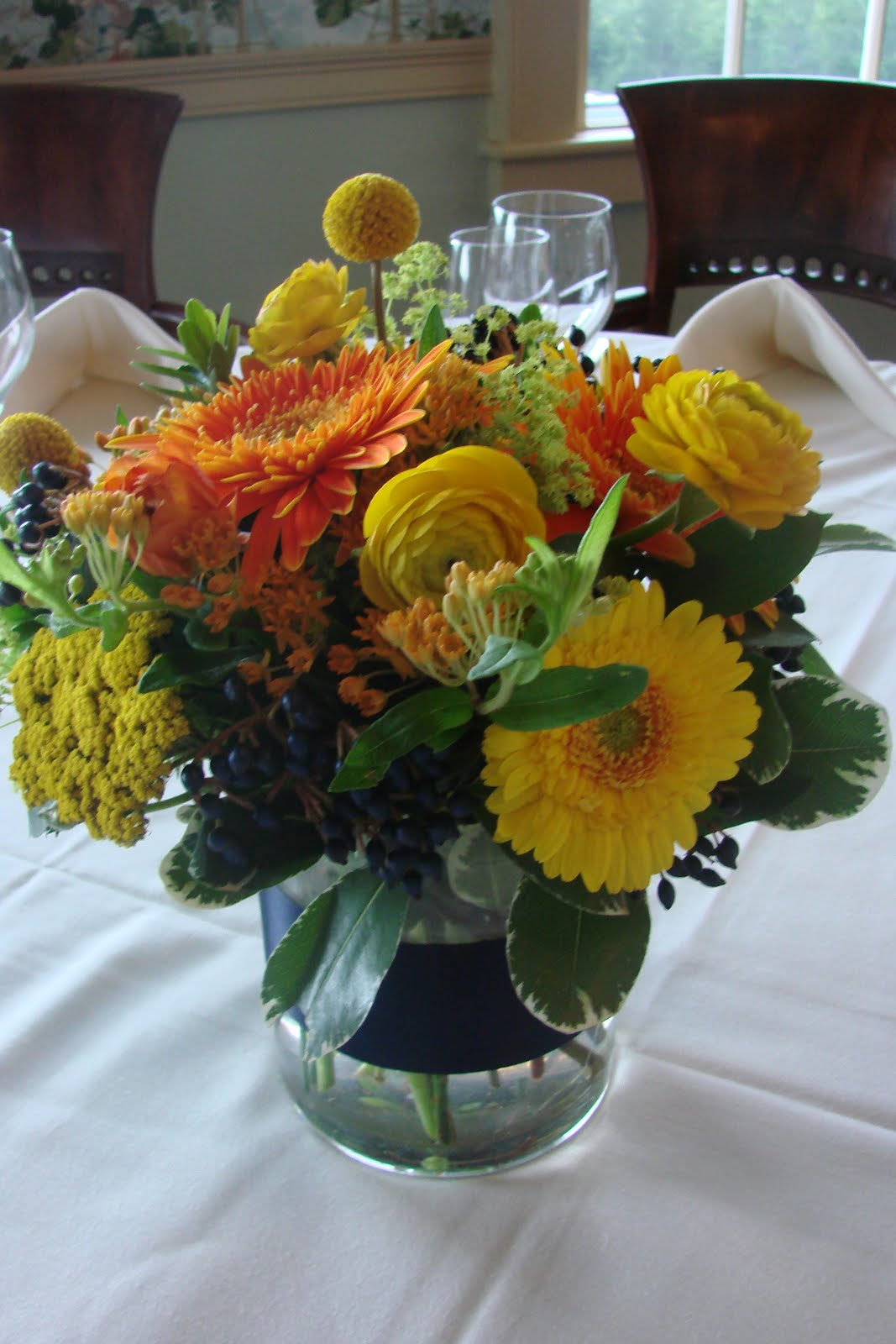 Bright And Bold Wedding Flowers Before And After