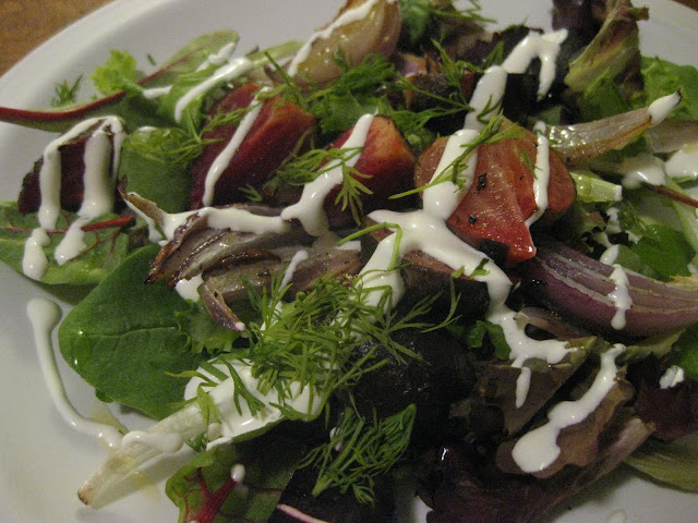 The Blueberry Files: Roasted Beet and Onion Salad