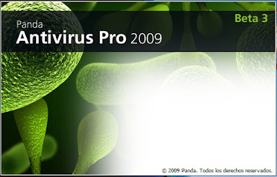Panda Antivirus Pro 2009 for Windows 7 start up screen