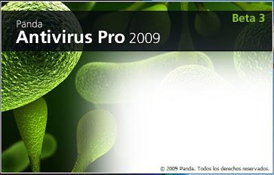 Panda Antivirus Pro 2009 for Windows 7 start up screen