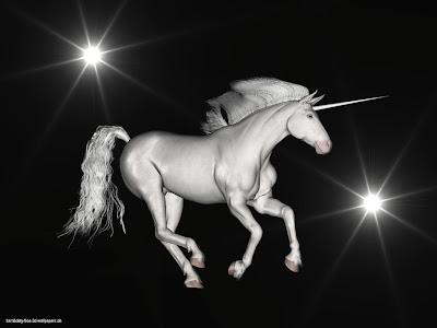 На небе существует созвездие Единорог, введенное в Новое время.  На небесных атласах изображается в виде коня с рогом.