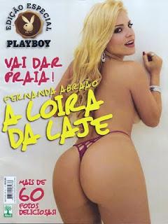 Playboy Brasil Fernanda Abraao A Loira Da Laje