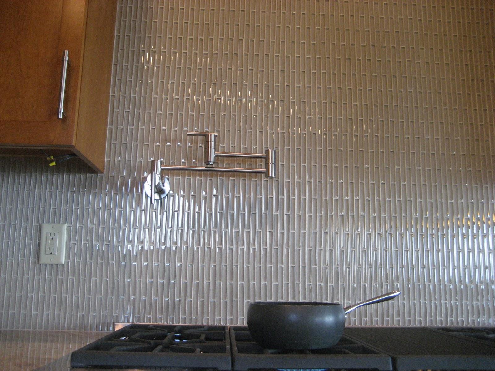 View Of Vertical Tile Backsplash