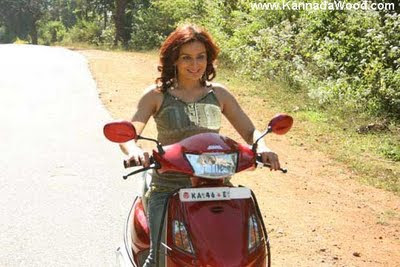 Pooja Gandhi on bike
