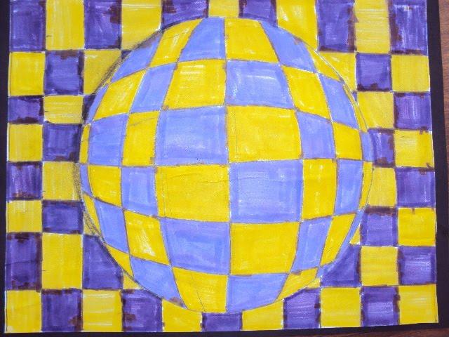 Op art spheres