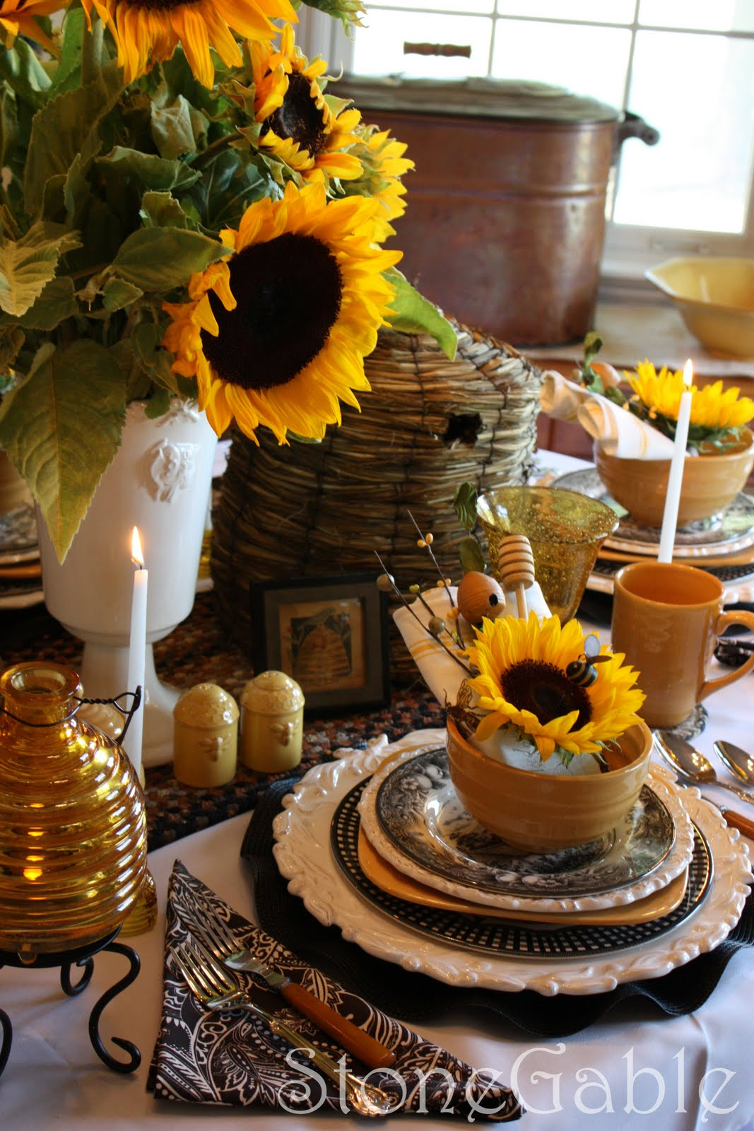 Stonegable tablescapes for Fall table