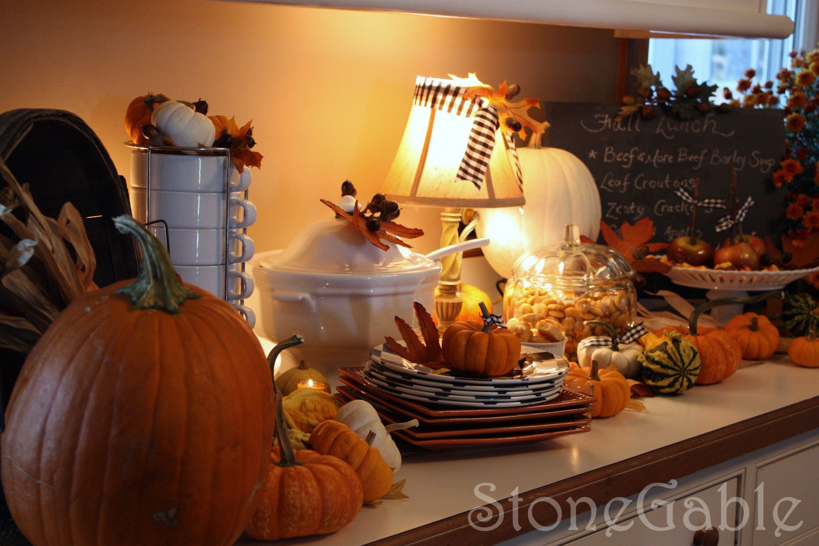 Kitchen Counter With Food kitchen counter soup buffet - stonegable