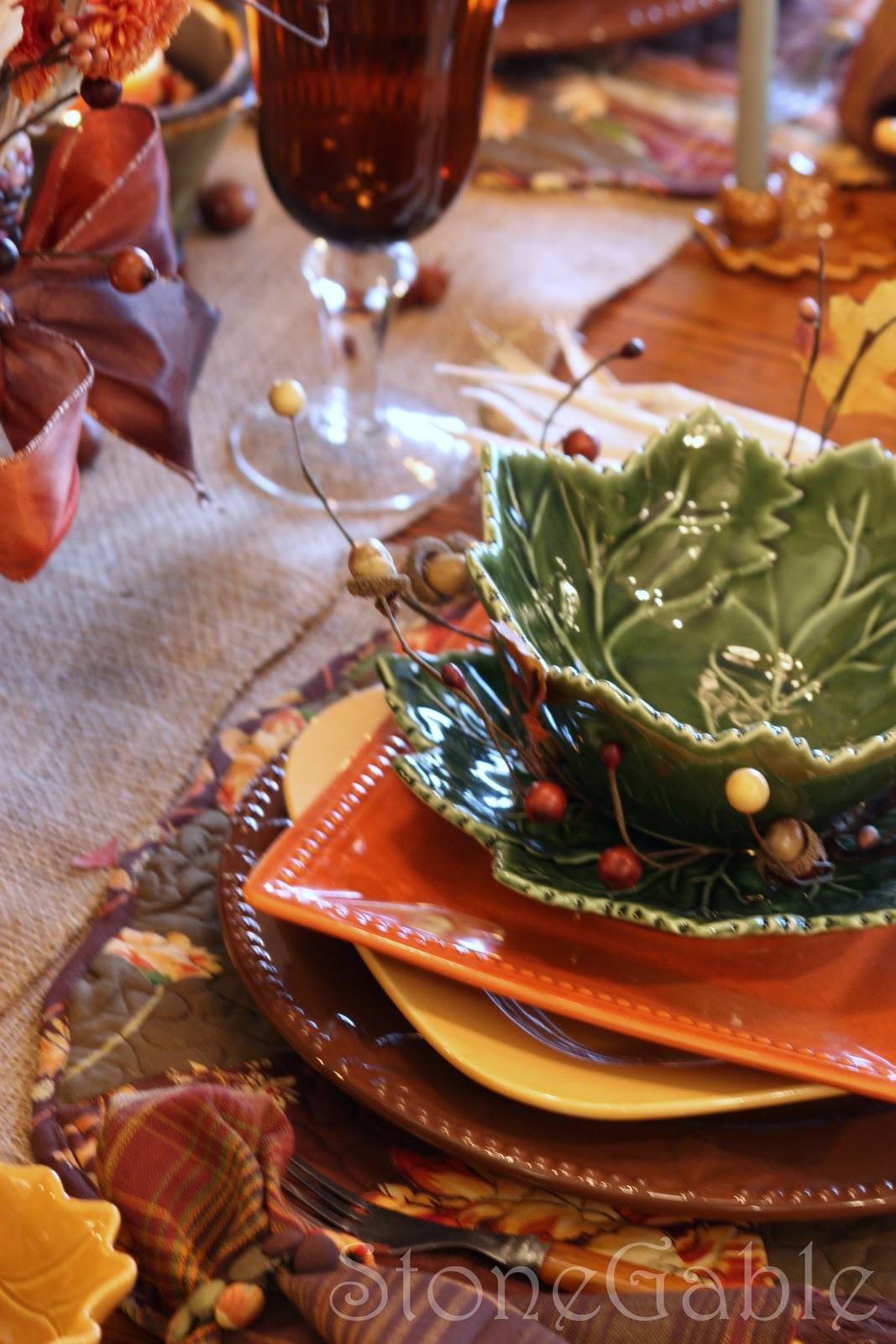 Autumn Patchwork Tablescape Stonegable
