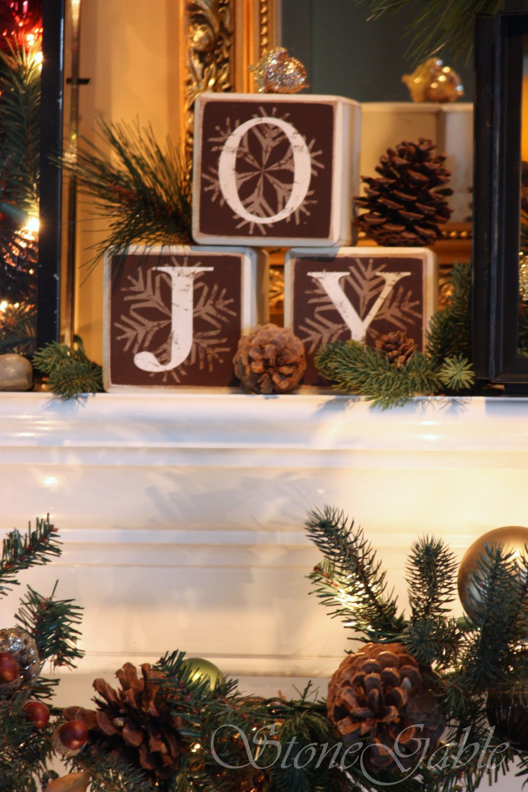 deck the halls walls floors tables and mantel stonegable