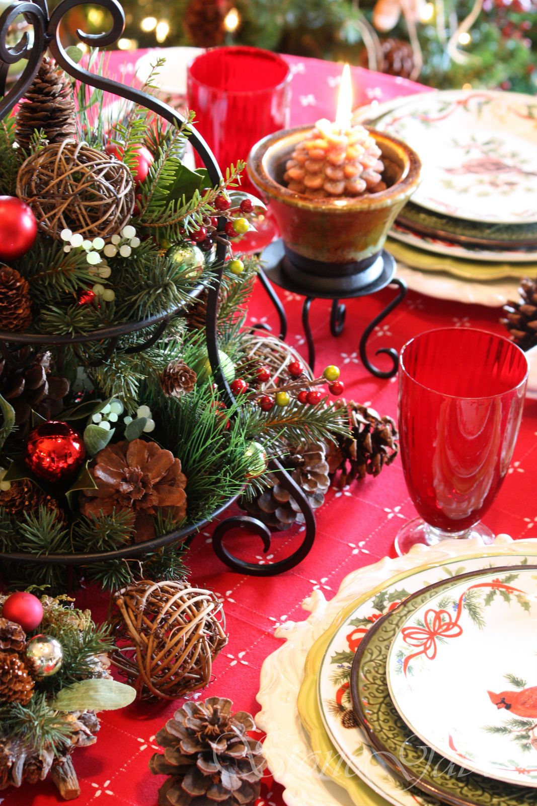 christmas brunch tablescape stonegable