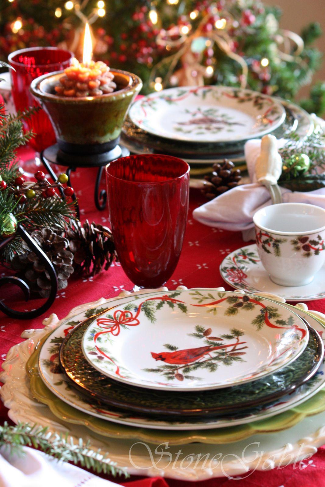 Christmas Brunch Tablescape & Christmas Brunch Tablescape - StoneGable