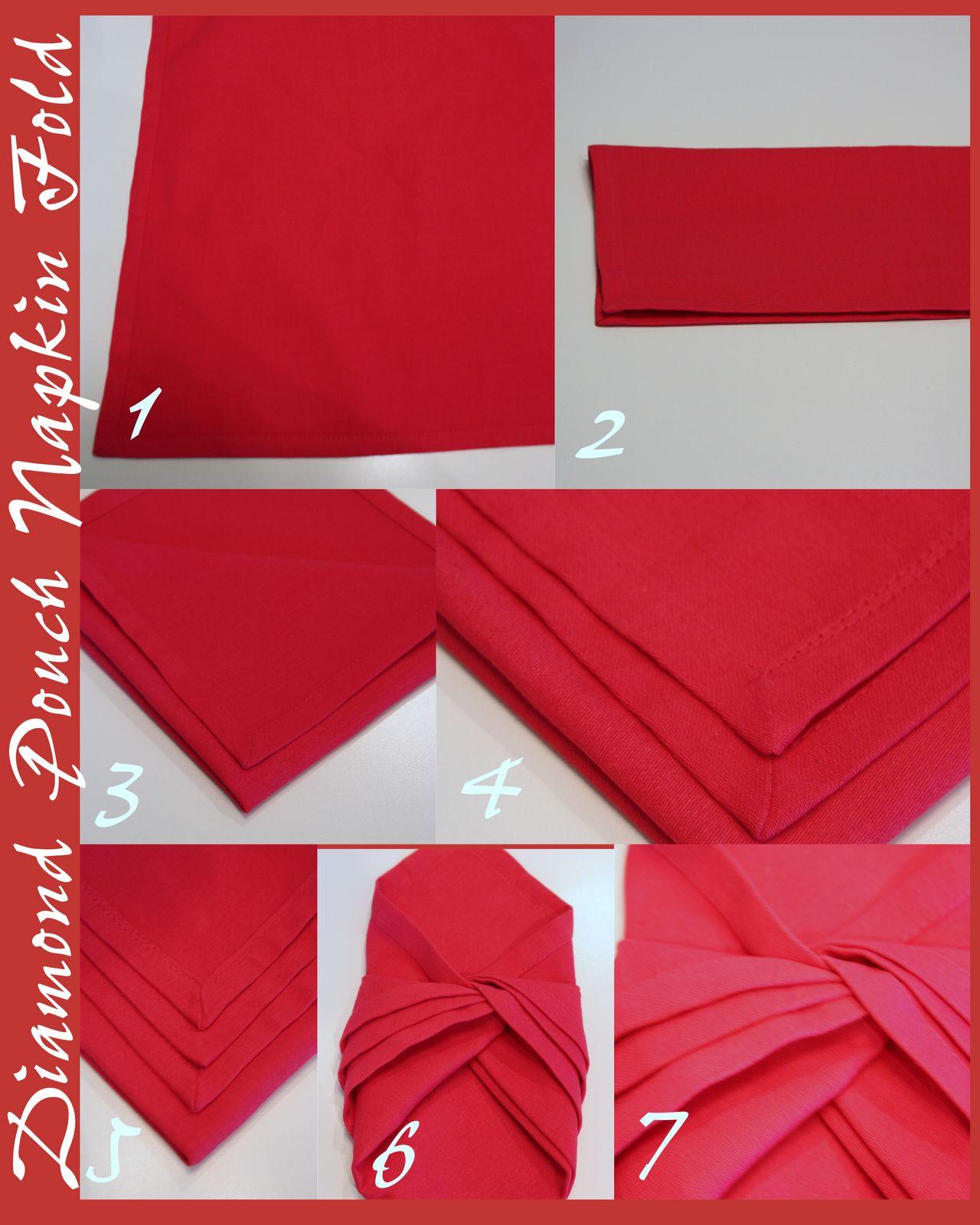 Diamond Napkin Fold StoneGable