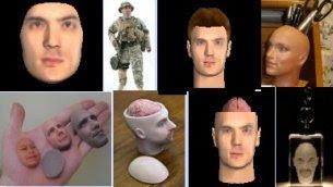 Testa costruita in 3D
